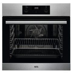 Aeg BES255011M Built In Electric Single Stainless Steel Oven