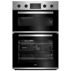 Beko CDFY22309X Built In Electric Double Stainless Steel Oven - A Energy Rated