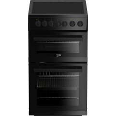 Beko EDVC503B 50Cm Double Oven Electric Black Cooker - A Energy Rated