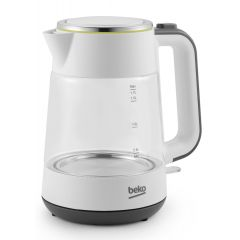 Beko WKM6321W New Line 1.7 Litre White Glass Kettle