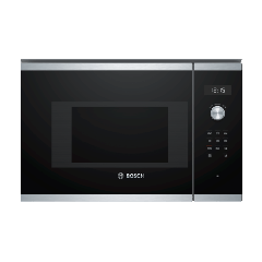 Bosch BFL524MS0B Built In 20 Litre 800W Stainless Steel Solo Microwave