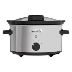 Crockpot CSC044 3.5L Stainless Steel Slow Cooker With Hinged Lid