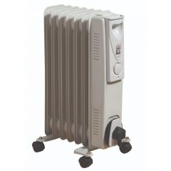 Fine Elements HEA1069GE 1.5Kw 7 Fin Oil Filled Radiator With Thermostat