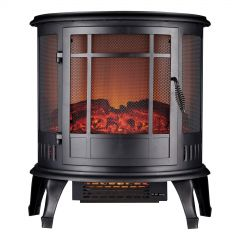 Daewoo HEA1574GE 1900W Curved Electric Black Stove Fire