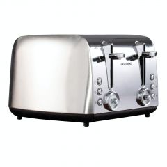 Daewoo SDA1749 Kingsbury 4 Slice Toaster With Temp Dial. Stainless