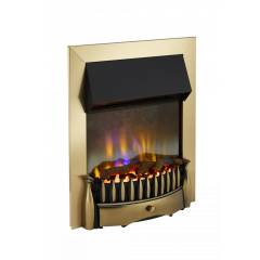 Dimplex BMR20AB Braemar 2Kw Antique Brass Optiflame 3D Electric Inset Fire