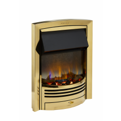 Dimplex GLN20BR Glencoe 2Kw Brass Optiflame 3D Electric Inset Fire