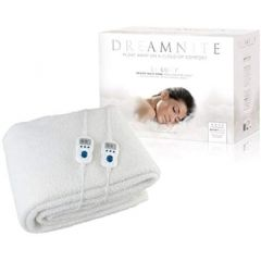 Dreamnite DN49002 King, Dual Control Fitted Fleece Electric Blanket