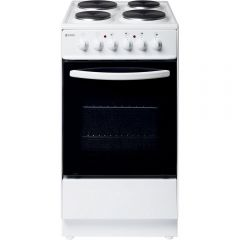 Haden HES50W 50Cm Single Oven Electric White Cooker - A Energy Rated