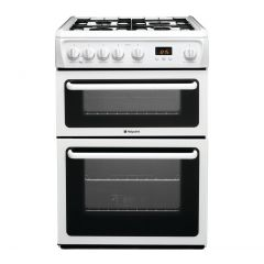 Hotpoint HAG60P 60Cm Double Oven White Gas Cooker
