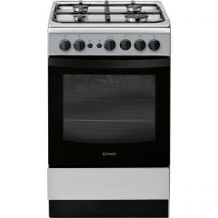 Indesit IS5G1PMSS 50Cm Single Cavity Silver Gas Cooker