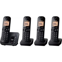 Panasonic KX-TGC224EB Quad Cordless Phones With Answering Machine