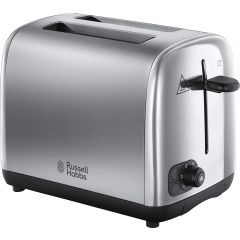 Russell Hobbs 24080 Adventure 2 Slice Brushed/Polished Stainless Steel Toaster