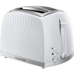 Russell Hobbs 26060 2 Slice White Honeycomb Collection Toaster