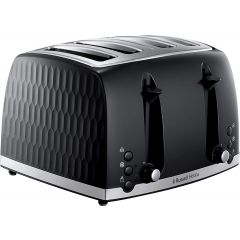 Russell Hobbs 26071 4 Slice Black Honeycomb Collection Toaster