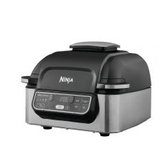 SharkNinja AG301UK Health Grill & Air Fryer - Black/Stainless Steel