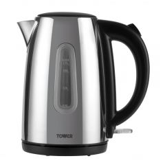 Tower T10015P 3Kw 1.7 Litre Polished Stainless Steel Jug Kettle