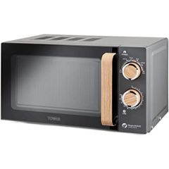 Tower T24027G 800W 20 Litres Scandi Grey Manual Solo Microwave