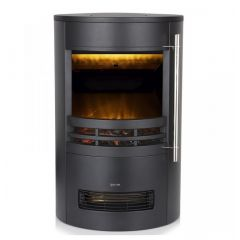 Warmlite WL46022 2Kw Round Contemporary Flame Black Stove