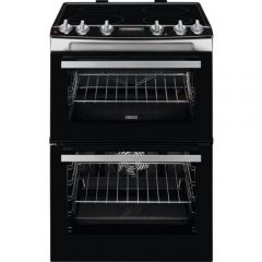Zanussi ZCI66278XA 60Cm Double Electric Oven With Induction Hob Cooker